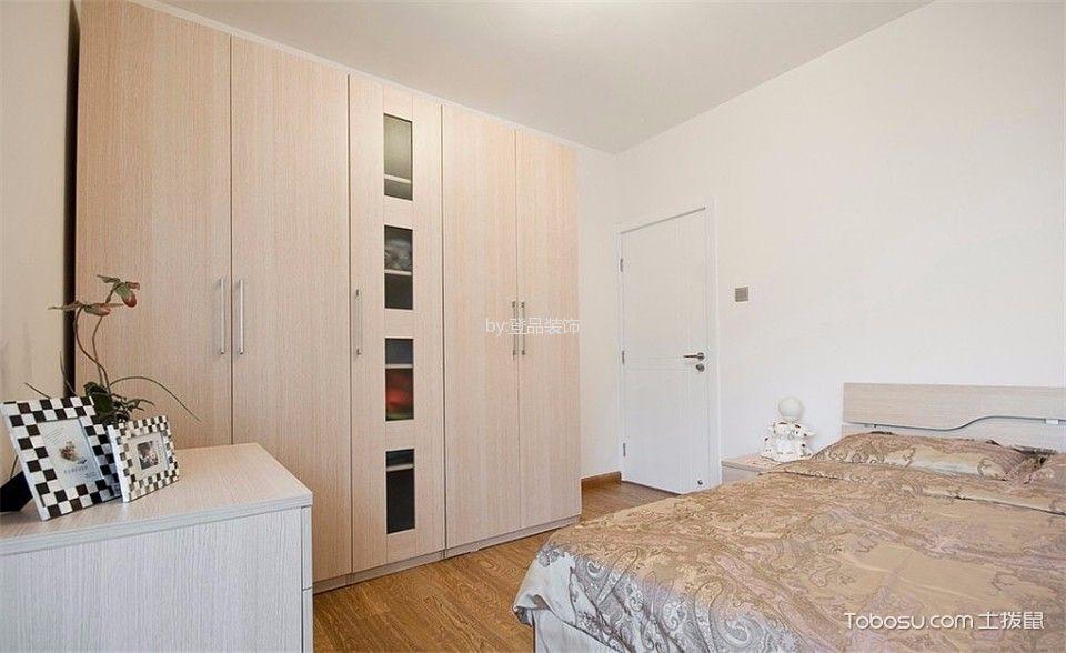 卧室米色衣柜现代简约风格装饰图片