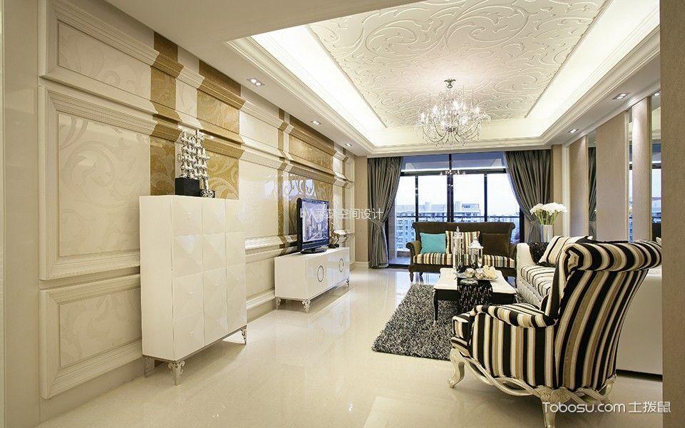 东方明珠欧式三居室效果图