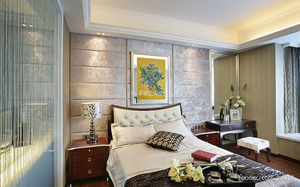 卧室 吊顶_欧式风格120平米三室两厅室内装修效果图