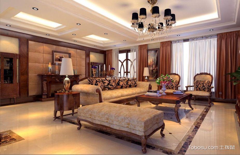 简欧风格137平米三房两厅新房装修效果图