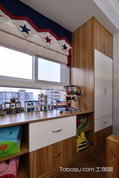儿童房彩色窗帘现代简约风格装修效果图