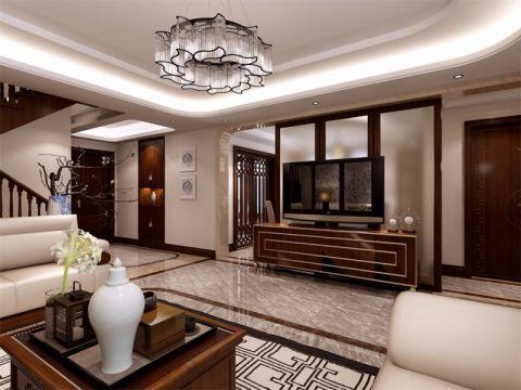 中式风格400平米别墅室内装修效果图
