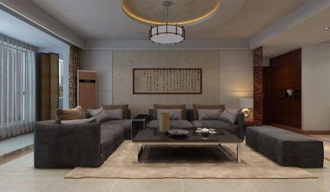 新中式风格80平米两房两厅新房装修效果图
