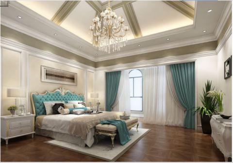 法式风格300平米别墅房子装饰效果图