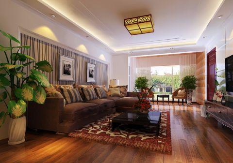 现代中式风格90平米2房2厅房子装饰效果图