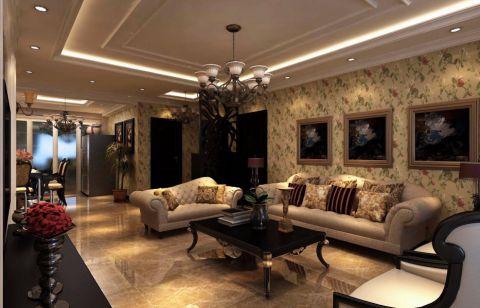 简欧风格100平米两房两厅新房装修效果图