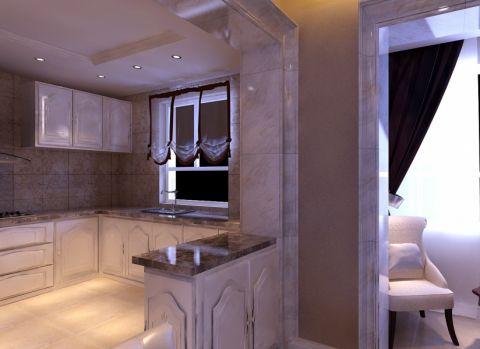 简欧风格89平米两房两厅新房装修效果图