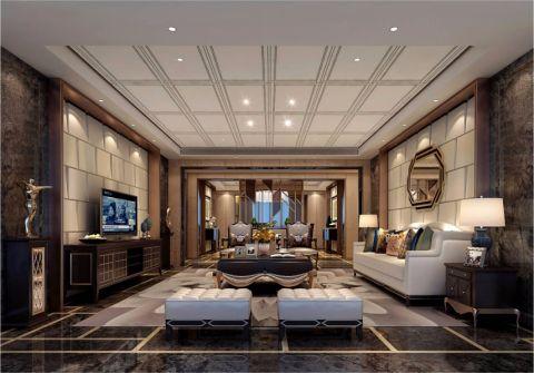 欧式风格120平米两室两厅室内装修效果图