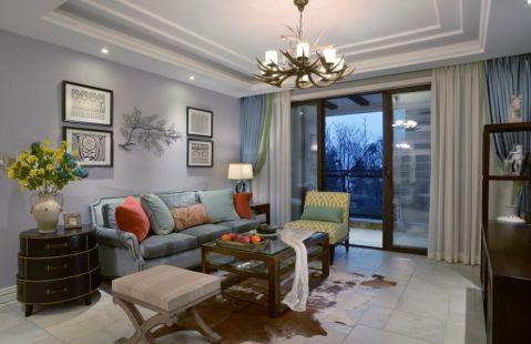 混搭风格89平米两室两厅室内装修效果图