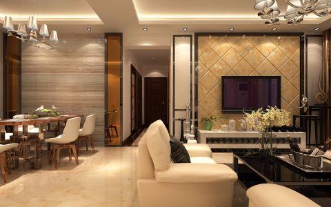 客厅走廊简欧风格装修图片