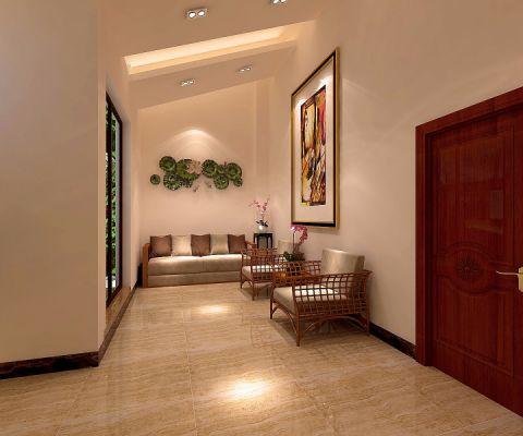 玄关中式风格装饰设计图片