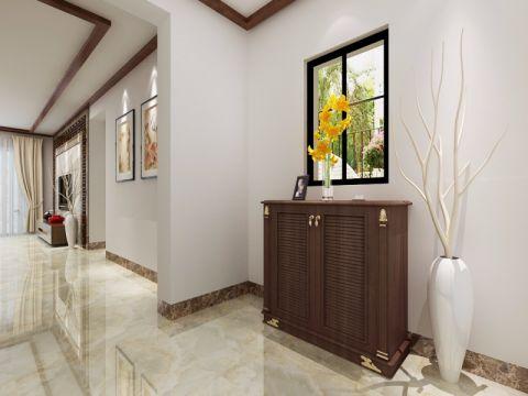 玄关背景墙中式风格装饰图片