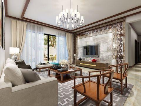 中式风格160平米四室两厅室内装修效果图
