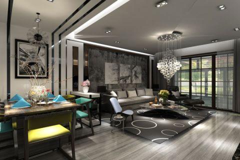 现代风格165平米大户型室内装修效果图