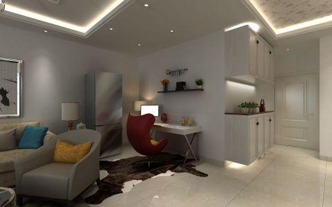客厅书桌现代风格效果图