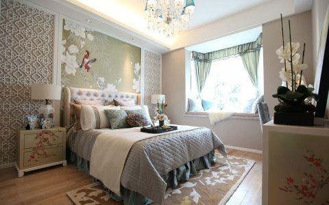 卧室飘窗中式风格装修效果图