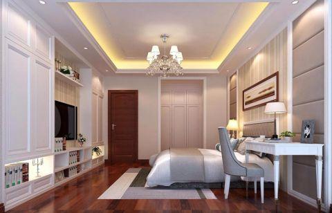 卧室背景墙欧式风格装潢图片