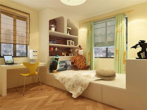 现代简约风格85平米两房一厅新房装修效果图