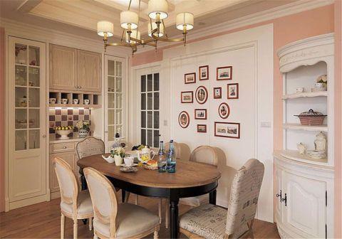 餐厅照片墙美式风格装饰图片