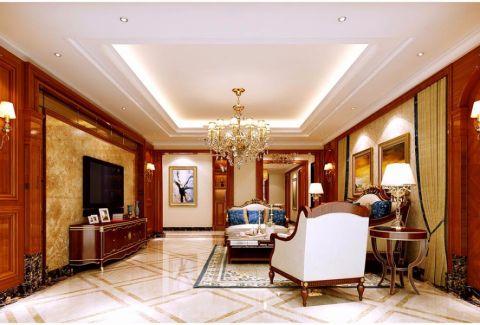美式风格280平米大户型房子装饰效果图