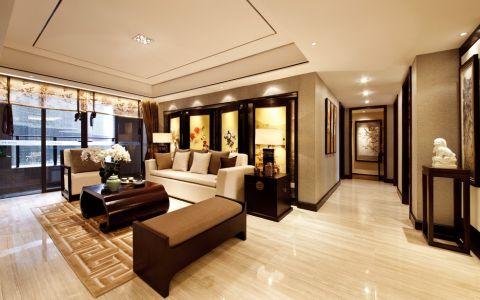 中南世纪花城新中式风格三室一厅装修效果图