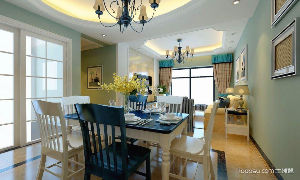 餐厅白色推拉门混搭风格装潢效果图