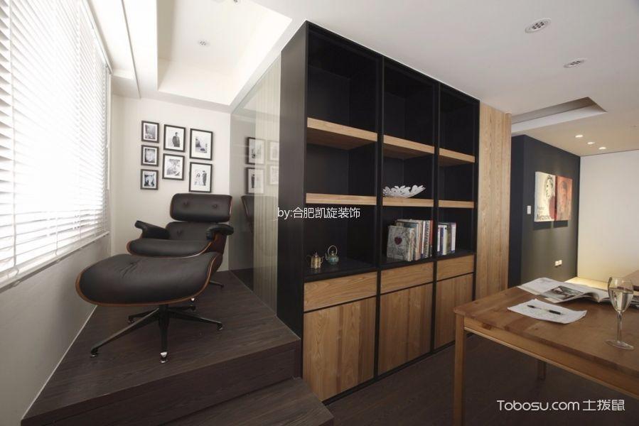 书房白色照片墙现代风格装潢效果图