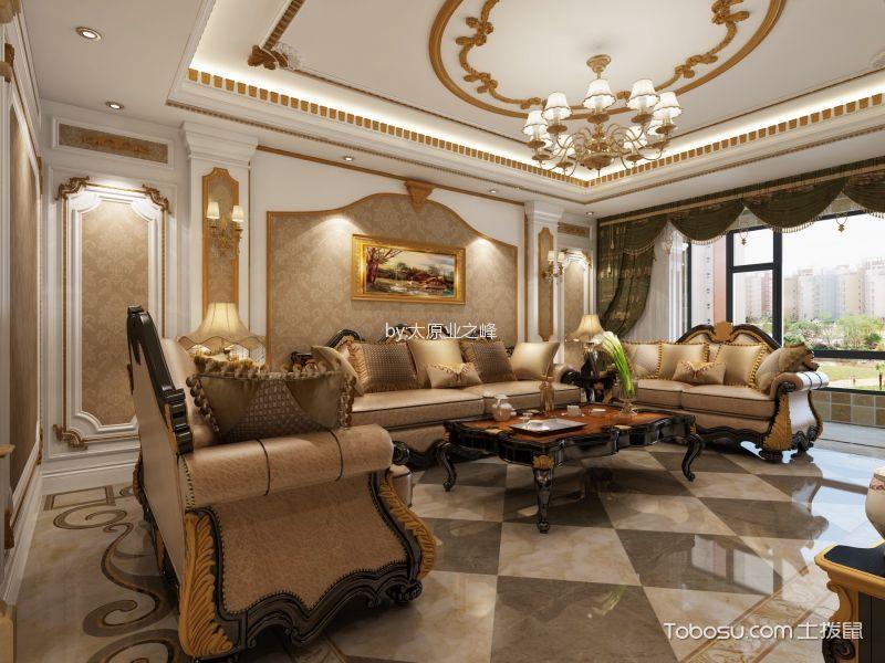 欧式风格190平米3房2厅房子装饰效果图