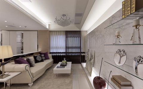 欧式风格120平米大户型室内装修效果图