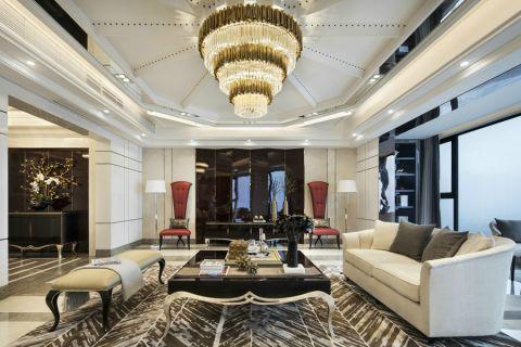 法式风格200平米大户型室内装修效果图
