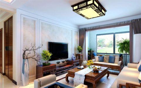 客厅窗帘新中式风格装饰图片