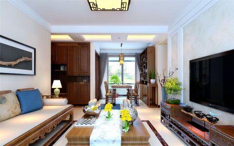 客厅茶几新中式风格装潢图片