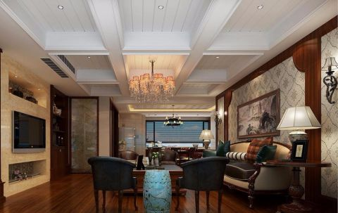 混搭风格280平米复式房子装饰效果图