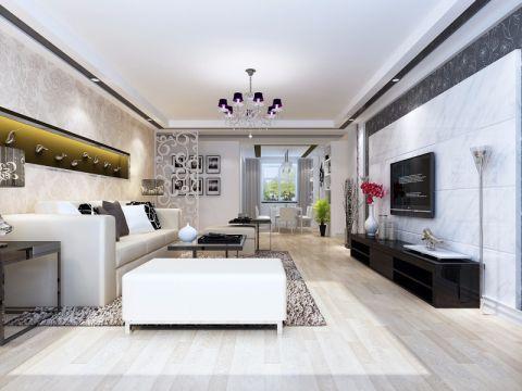 现代风格134平米三房三厅新房装修效果图