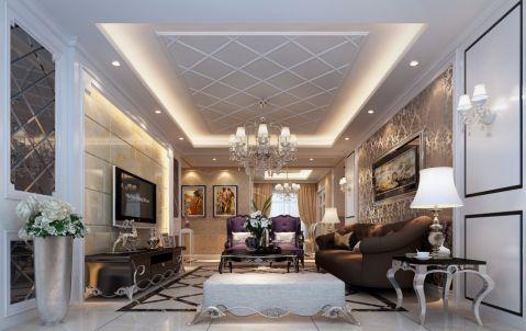 简欧风格130平米3房2厅房子装饰效果图