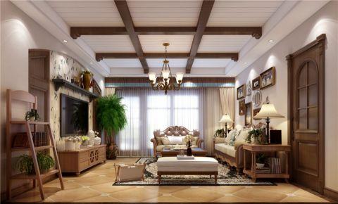 美式风格220平米跃层房子装饰效果图