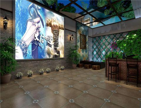 阳光房背景墙美式风格装修图片