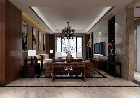 新古典风格130平米3房2厅房子装饰效果图