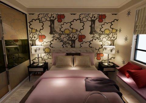 卧室背景墙新古典风格装修效果图
