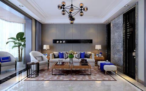 现代简约风格260平米大户型房子装饰效果图