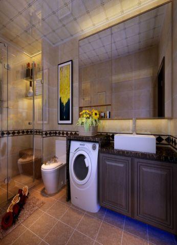 卫生间洗漱台现代简约风格装修设计图片