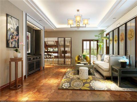 中式风格300平米3房2厅房子装饰效果图