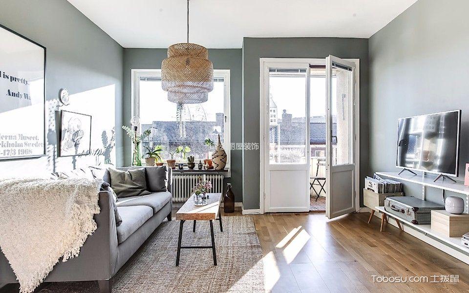 北欧风格53平米3小户型房子装饰效果图