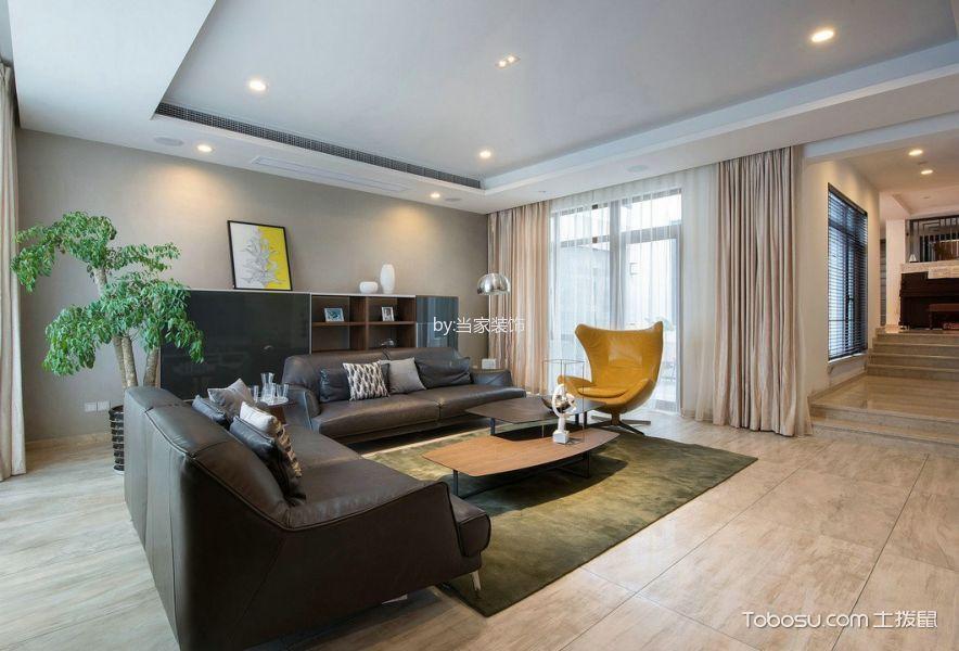 客厅 窗帘_简约风格130平米复式房子装饰效果图