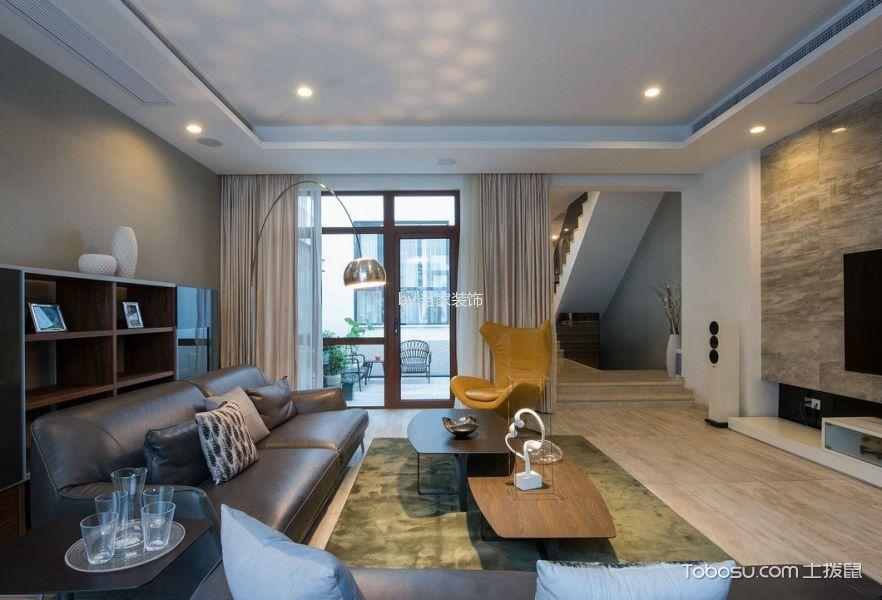 客厅 地板砖_简约风格130平米复式房子装饰效果图