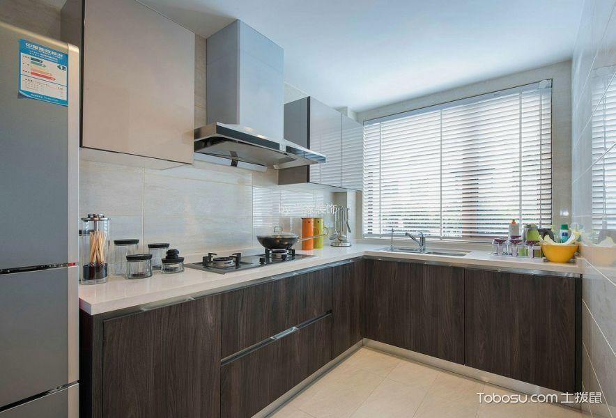 厨房 橱柜_简约风格130平米复式房子装饰效果图