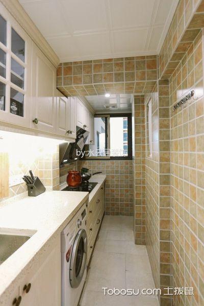 厨房白色吊顶美式风格装修设计图片