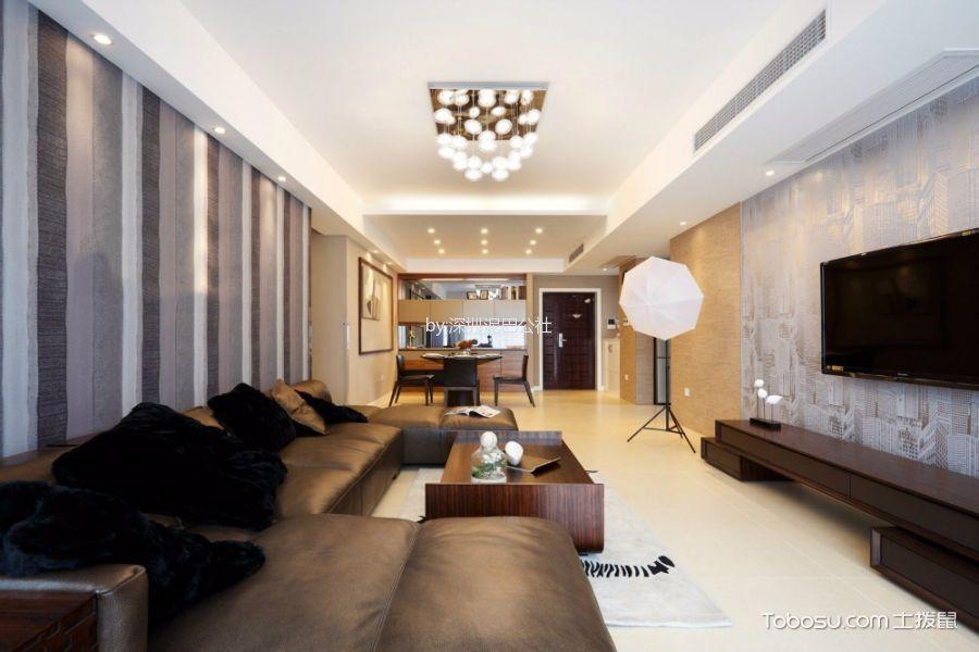 现代简约风格95平米3房2厅房子装饰效果图