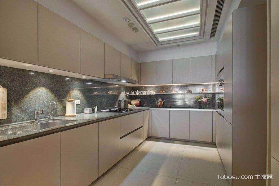 厨房白色吊顶现代风格装潢效果图