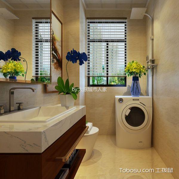 卫生间 窗帘_现代简约风格140平米三室两厅室内装修效果图